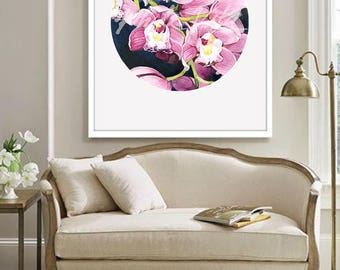 Orchids Print Watercolor wall art, Orchids Painting, Floral Watercolor Poster, Flower illustration, Floral Home Decor Digital Prints1