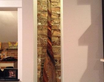 Handmade Artistic Leather & Wooden Oar
