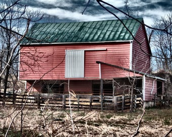 Little Red Barn, Red Barn Photography, Red Barn Photograph, Barn Photography, Rural Photography, Rural Photograph, Farm Photography, Barn