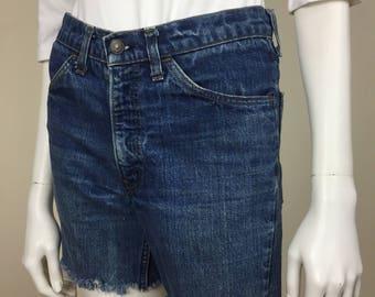 Levi's denim cut off jean shorts 70s