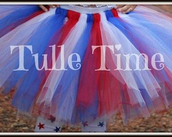 Patriotic 4th of July Red White Blue Tutu 12m 18m 2t 3t 4t 5t 6