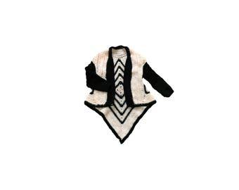 Handmade Soft Short-Cuff Crochet Cardigan Sweater