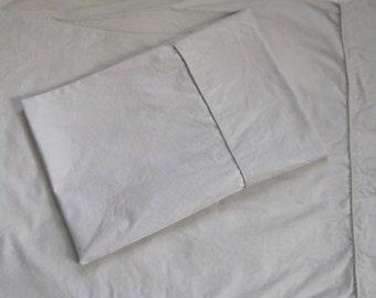 cotton pillowcase . cream cotton pillowcases . set of two . leaf design . damask pillowcases . leaf damask pillowcase