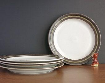 "1970s Arabia Finland Karelia Plates - Arabia Karelia Dinner Plates - Finnish Anja Jaatinen-Winquist Design - 10"" Dinner Plates - 3 Available"