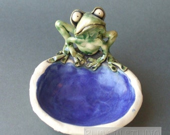 Frog Dish Ceramic Sculpture