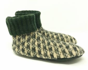 Waldorf Kid's Small Wool Slipper Socks, Size 8-10, Soft Sole Shoe, ToughTek Bottoms,  Machine Washable, Ready to Ship, Gender Neutral