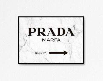 Prada Marfa Print, Prada print, Prada Marfa Art, marble decor, Prada poster, Fashion Print, 24x36, High Fashion, marble print, Prada Sign