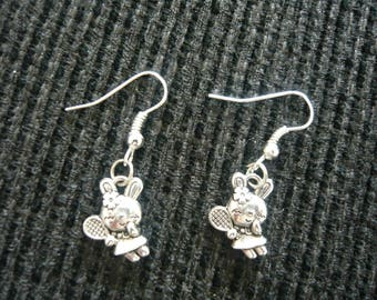 Rabbit Silver earrings