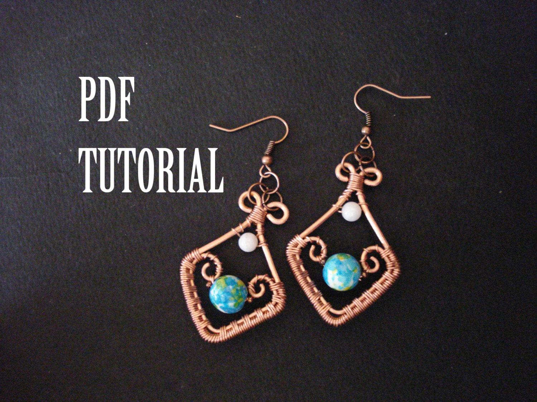 Tutorial earrings tutorial in handmade tutorial earrings in
