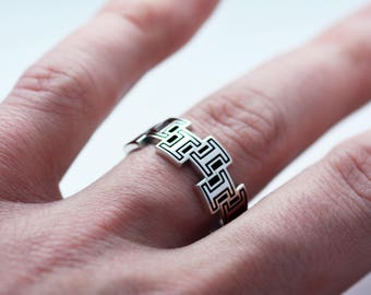 1 or 'I' Sterling Silver ring