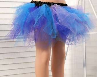 Purple, Lavender, Turquoise Blue Trashy TuTu Skirt Child Size 2-6 MTCoffinz - Ready to Ship
