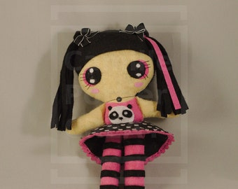 Doll / Kawaii / Panda / Japan / Ooak /