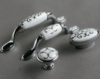 cabinet of and drawer porcelain vintage pulls set drawers pin dresser handles brass door