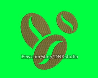 Coffee Beans Embroidery Design - 5 Sizes - INSTANT DOWNLOAD
