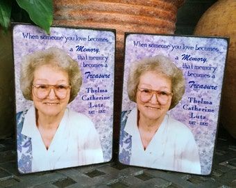 Memorial Gift In loving Memory Sympathy Personalized Plaque - Photo Board - 5x7