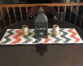 Fall Chevron Table Runner * Thanksgiving * Quilted