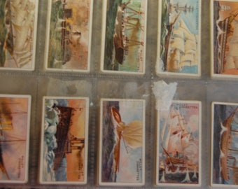 WILLS Cigarette -Celebrated Ships Series-50 Complete VG to  EX Fine