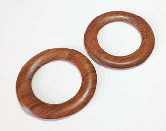 Large Wood Ring Shawl Ring 60mm Bayong-2pc