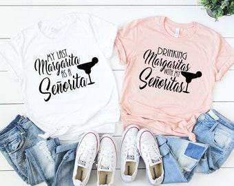 Bachelorette Party Shirts, Drinking Margaritas with my senoritas, My Last Margarita, Nacho Average Fiesta, Fiesta Bachelorette Shirts