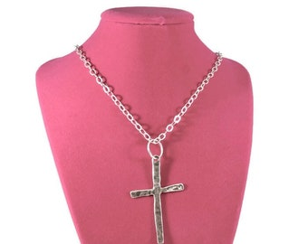 Sterling Silver Crucifix Necklace - Crucifix Pendant - Sterling Silver Chain