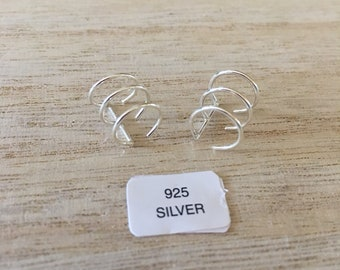 New Sterling Silver 3 Ring Cuffs (2)