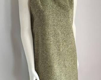 Vintage Women's 60's Mod, Green, Sleeveless Dress (M)