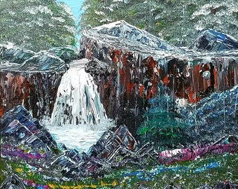 Spring Snow of the Sierra Nevada's by Darrell Nickel of DNART CREATIONS in Acrylic