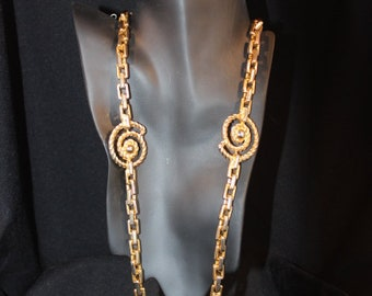 Very heavy chain link gold necklace - Signed Made in Korea EXP
