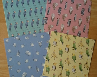 Japanese Origami (Birds / 48sheets (4patterns x 12sheets))
