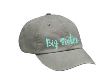 Big Sister Hat Big Sister Gift Choose Your Colors Sorority Hat