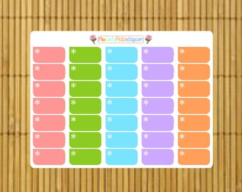 S163 - 35 Asterisk Color Task Box Planner Stickers