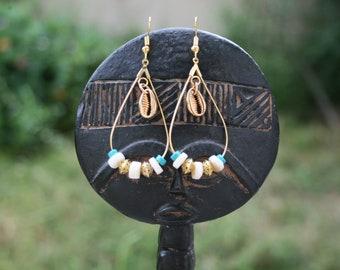 TRINIDAD hoop drop earrings