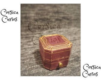 Antique Rare Famous TIFFIANY & CO GOLD Brown Ring Box.