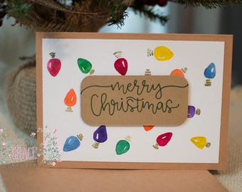 5x7 Handmade Christmas Card