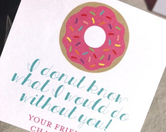 Donut! | Valentine Tags