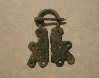 Viking Penannular Brooch DoubleLooped Motif Omega Type Copper Alloy, Lake Ladoga, 800-1400AD