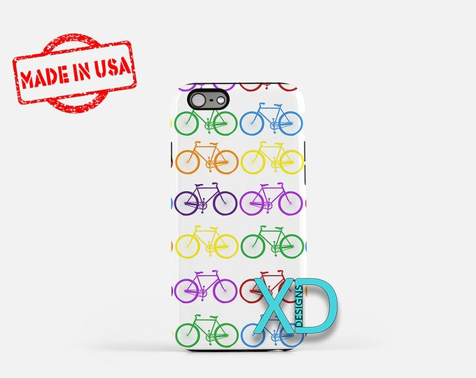 Bicycle iPhone Case, Colorful iPhone Case, Bicycle iPhone 8 Case, iPhone 6s Case, iPhone 7 Case, Phone Case, iPhone X Case, SE Case