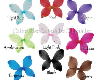 Fairy Butterfly Wings – Costume, Play, Ballet, Birthday, Play-wear (10 colors)