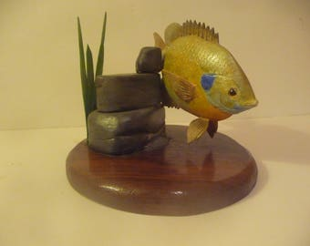 Fish, Bluegill, Hand carved