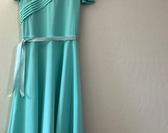 aqua 80s plus size vintage dress - SZ 14/16/18