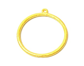 Gold Charms Gold Plated Circle Charms (37mm)  G7427