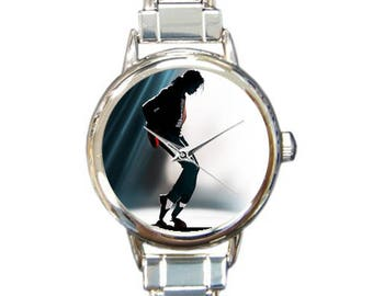 Michael Jackson Italian Charm Watch Bracelet Billie Jean Beat It Thriller Legend