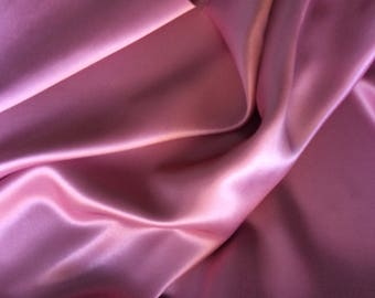High quality silky sateen, very close to genuine silk sateen. Antique Pink No49