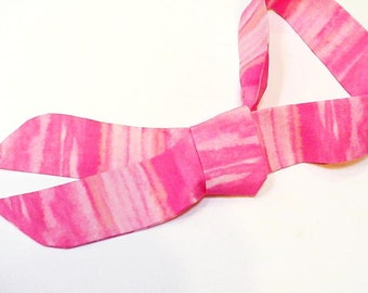 Stay COOL Tie, Pink Stripe Neck Cooling Scarf Neck Cooler Bandana Wrap, Body Head Heat Relief Headband iycbrand