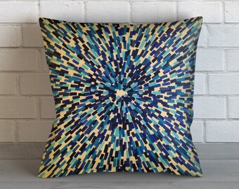 Blue Mosaic Pillow