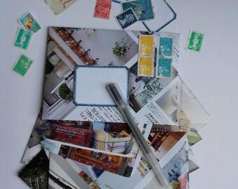 Enveloppes faites avec des magazines japonais - magazine japonais recyclé en enveloppes - enveloppes recyclées kawai - papeterie recyclée