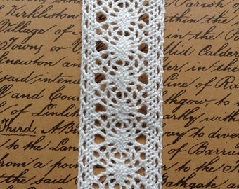 Victorian Cotton Lace - Ivory - 27mm - price per metre