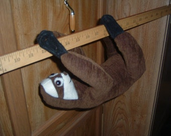 Sloth SMALL Three Toed Sloth Stuffed Animal Pattern......Smaller Version 12""