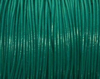 Round Leather Cord - 1mm Esmeralda Leather Cording 6 feet - 2 yards