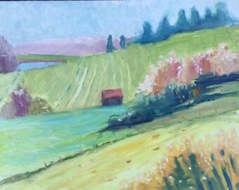 original landscape painting, original oil painting, landscape painting, Kentucky landscape painting